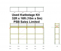 Used Kwikstage 32' x 16' Kit with NEW Timber Battens