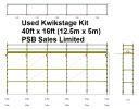 Used Kwikstage 40' x 16' Kit With New Timber Battens
