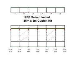 Used Cuplok 15mtr x 5mtr Kit
