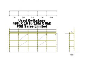 Used Kwikstage 48' x 16' Kit with NEW Timber Battens