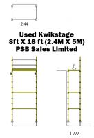 Used Kwikstage 8' x 16' Kit With New Timber Battens